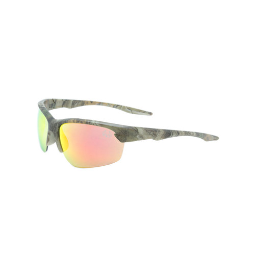 HangTen Kids RealTree Sunglasses Red Real Revo Lens Camo Frame Camo Temple Shark Eyes HTK12DRTWC A