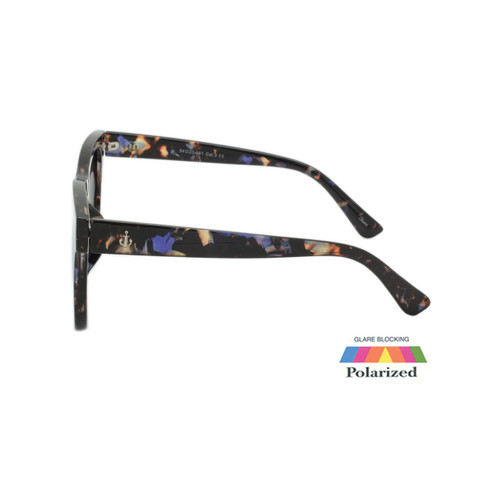 Unisex Coldwater Logo Sunglasses Blue Mirror Polarize Lens Tortoise Frame Tortoise Temple Shark Eyes CWS1 A-S