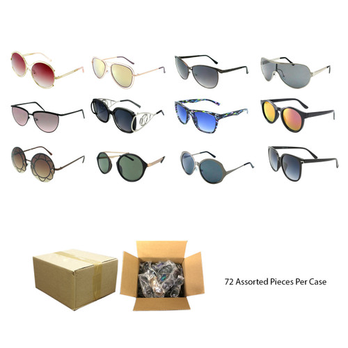 Assorted 72pcs Fashion Sunglasses FASDHSG36 Collage