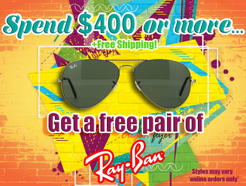 Another gift with purchase? Ray Bans?