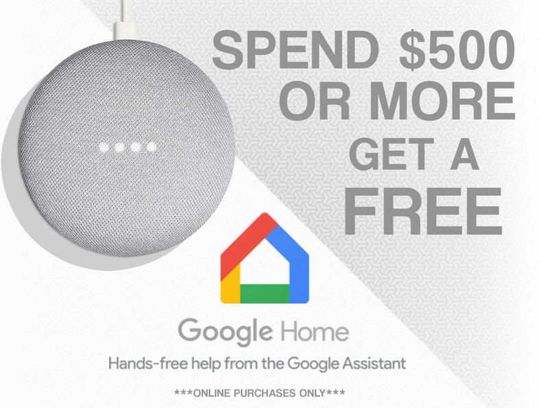 FREE Google Home Mini With Any Online Purchase over $500!