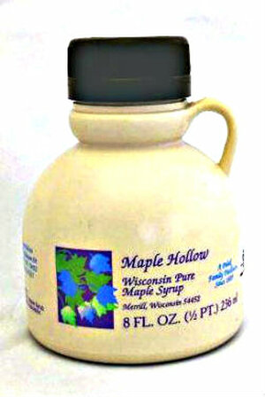 8 oz (1/2 Pint) Pure Maple Syrup Amber Rich / Medium Amber - Kosher - Plastic Jug