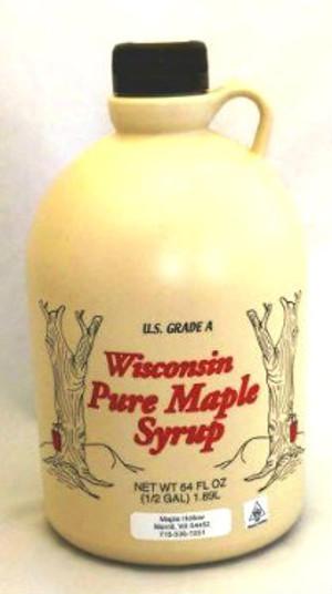 64oz (1/2gallon) Pure Maple Syrup Amber Rich / Medium Amber - Kosher - Plastic Jug