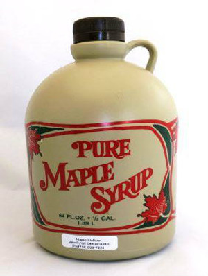 128oz (gallon)Pure Maple Syrup Dark Robust / Baking Grade Kosher