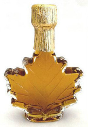 100ml Pure Maple Syrup Amber Rich / Medium Amber Glass Maple Leaf Kosher