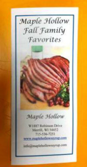 Maple Hollow Fall Recipes, Email For Free Copy, info.maplehollow@frontier.com