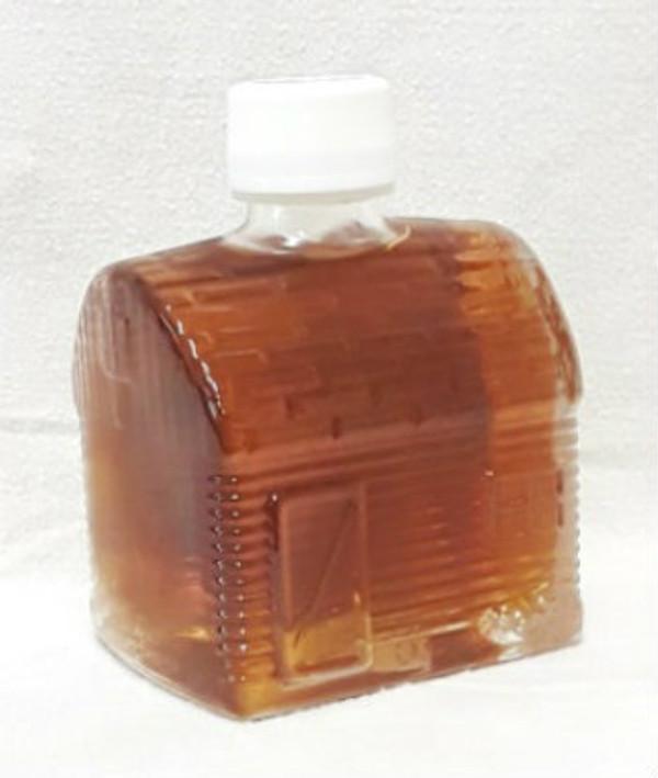 50ml Pure Maple Syrup Amber Rich / Medium Amber - Glass CABIN Shape Bottle Kosher