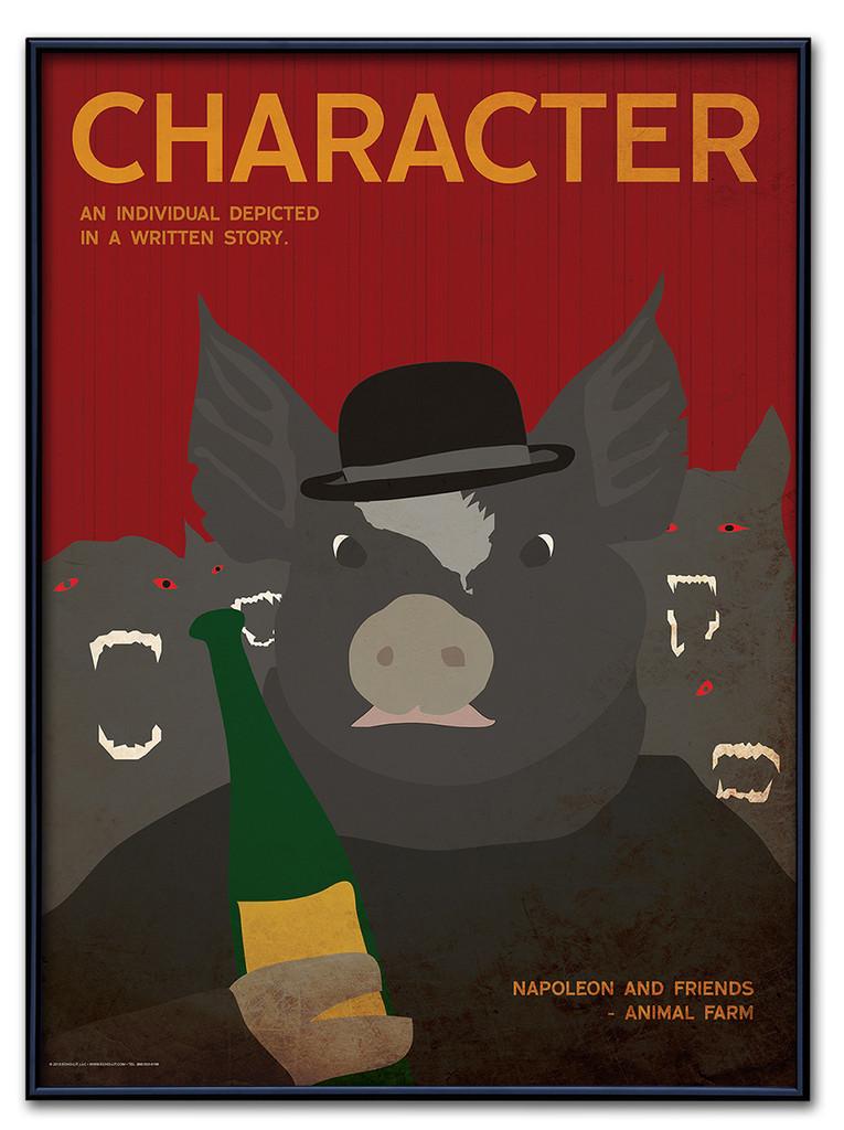 Character Poster Framed