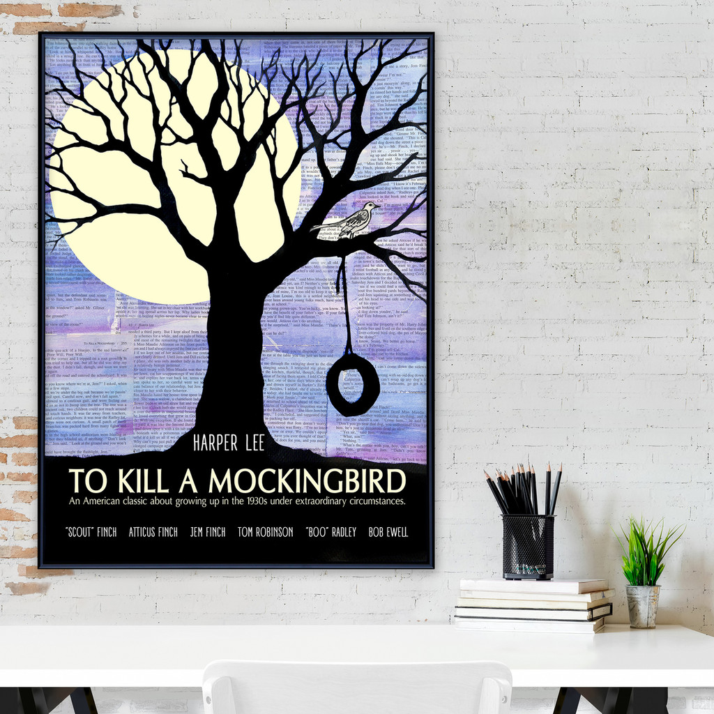 To Kill a Mockingbird - Harper Lee - Classic Novel Fine Art Print for Home, Office, Library, or Classroom
