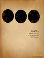 Ellipsis Grammar, Punctuation and Writing Poster