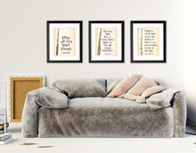 Harry Potter Quote Poster Set of 3 - Snape, Sirius, & Dumbledore Quotes. Fine Art Print for Classroom, Library, or Home.