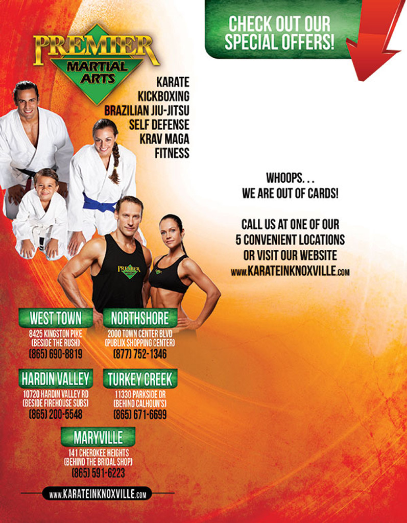 General Martial Arts POS Background Flyer