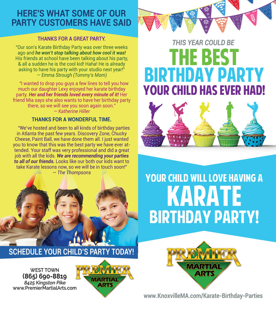 *NEW!! PMA Birthday Party Brochure