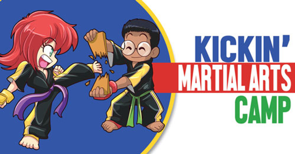 *NEW!! Kickin' Martial Arts/Karate Camp Vinyl Banner V2