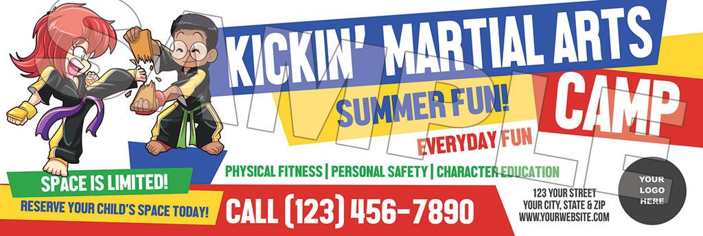 **NEW!! Kickin' Martial Arts Camp V1 Vinyl Banner