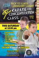 Back to School Karate for Concentration V1