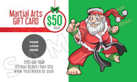 Santa's Martial Arts Holiday Gift Certificate