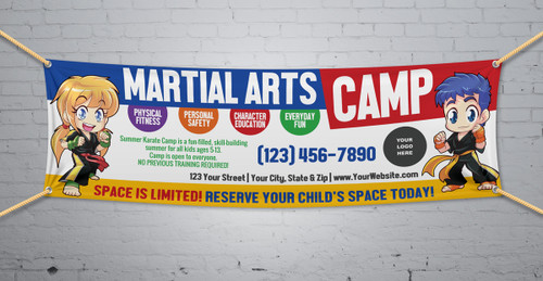 **NEW!! Martial Arts Camp V1 Vinyl Banner