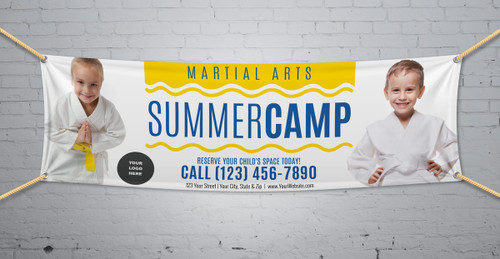**NEW!! Martial Arts Summer Camp V2 Vinyl Banner