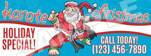 **NEW!! Santa's Karate for Christmas Vinyl Banner