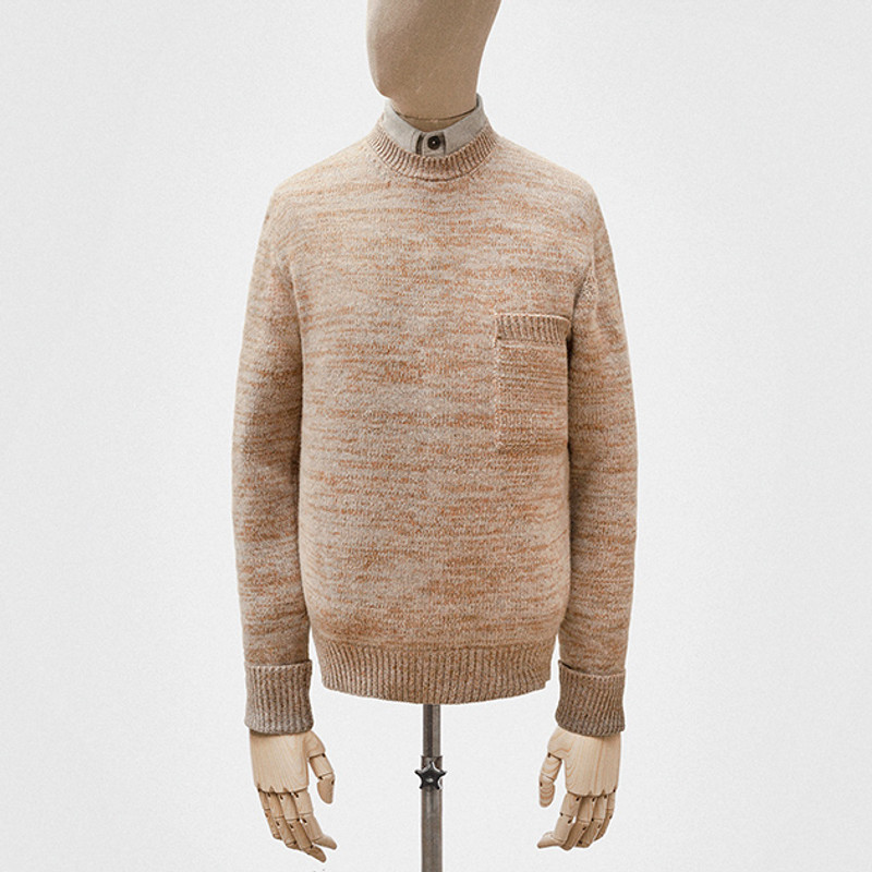 Crewneck Jumper, Pine and Grey