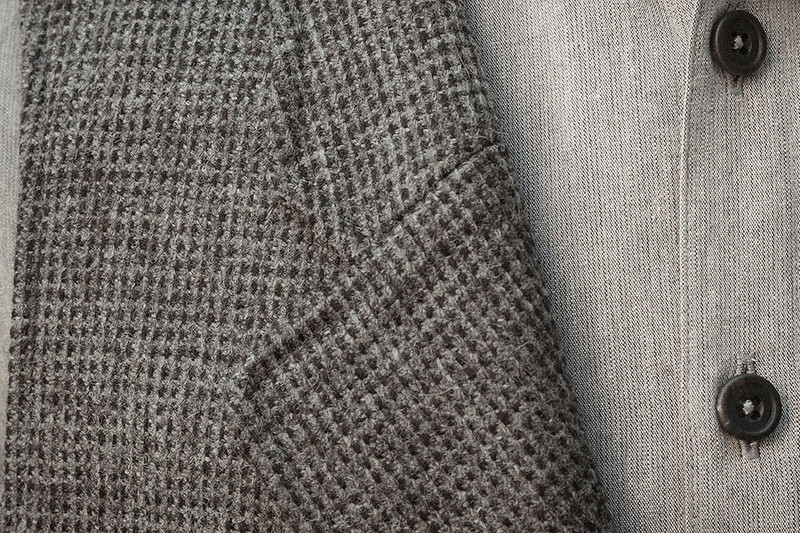 Lapel Vest, Grey-Charcoal
