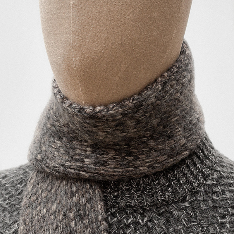Scarf, Grey and Brick