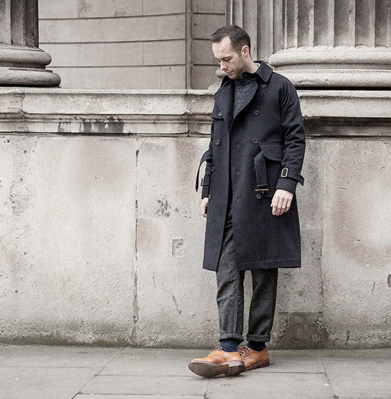 Trench Coat, Coal Grey