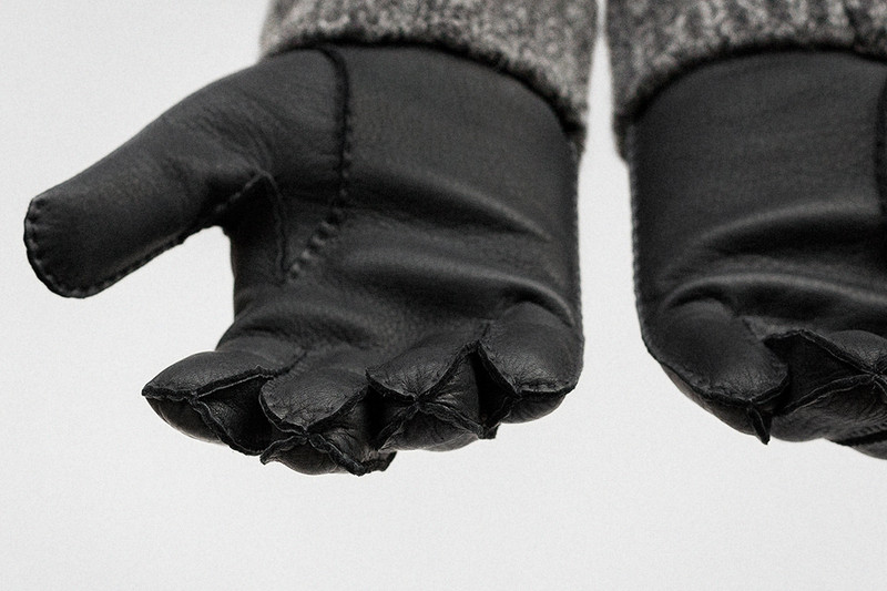 Gloves, Black and Charcoal