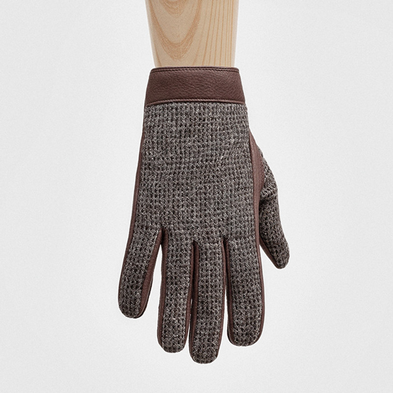 Gloves, Russet and Silver