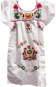 Nativa Mexican Embroidered Dress - Front Cropped Image