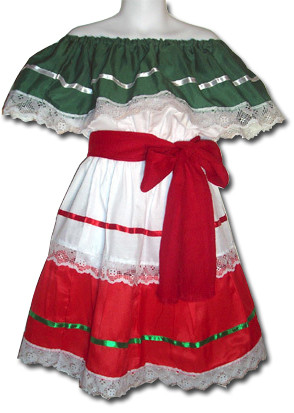 girls mexican fiesta traditional dress size 10 my
