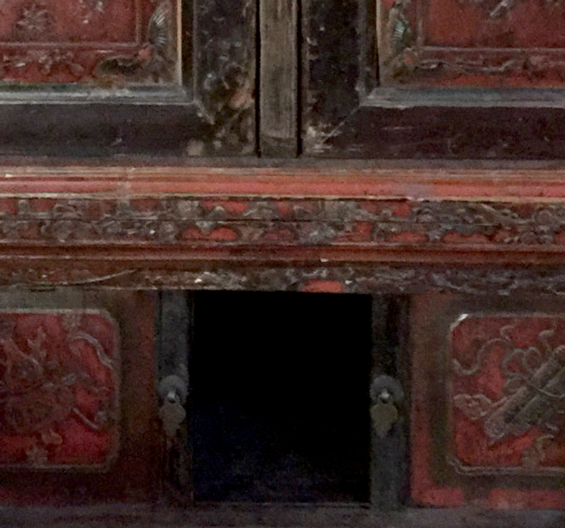 Vintage Asian 5 Door Cabinet