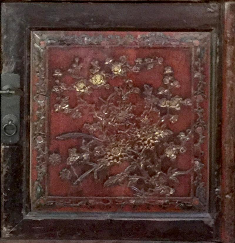 Authentic 16th Century Asian 5 Door Cabinet