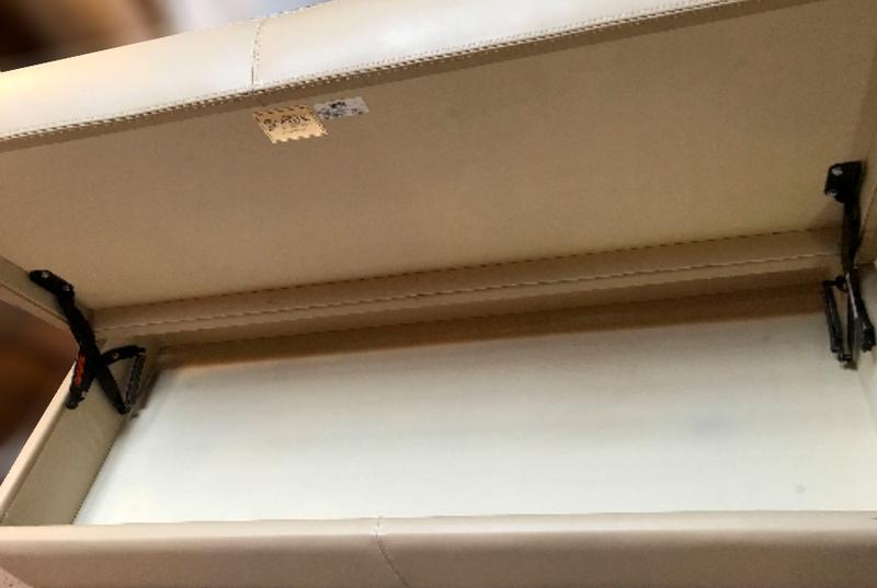 Walter E. Smith Vandyke Storage Bench in Tan Leather