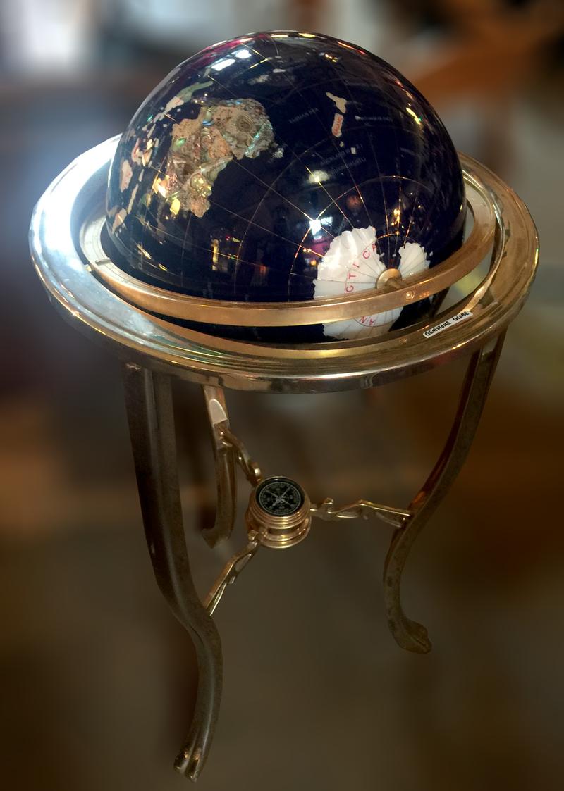 """17"""" Gemstone Globe Colored  3-Leg High Stand"""