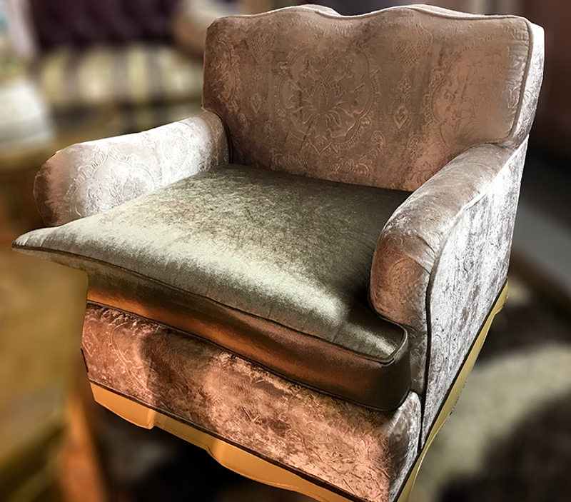 Vintage Velvet Lounge Arm Chairs