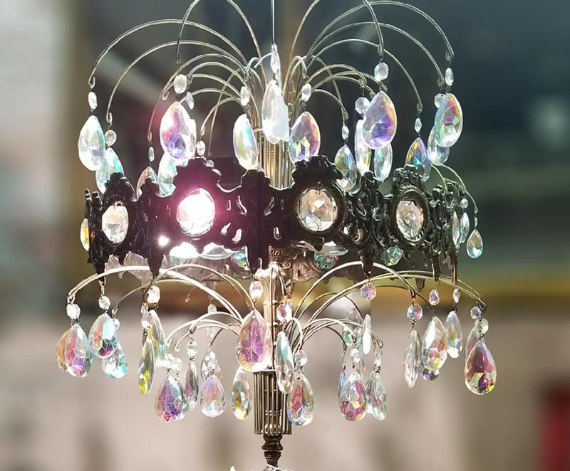 Vintage Italian Porcelain Capodimonte Table Lamp