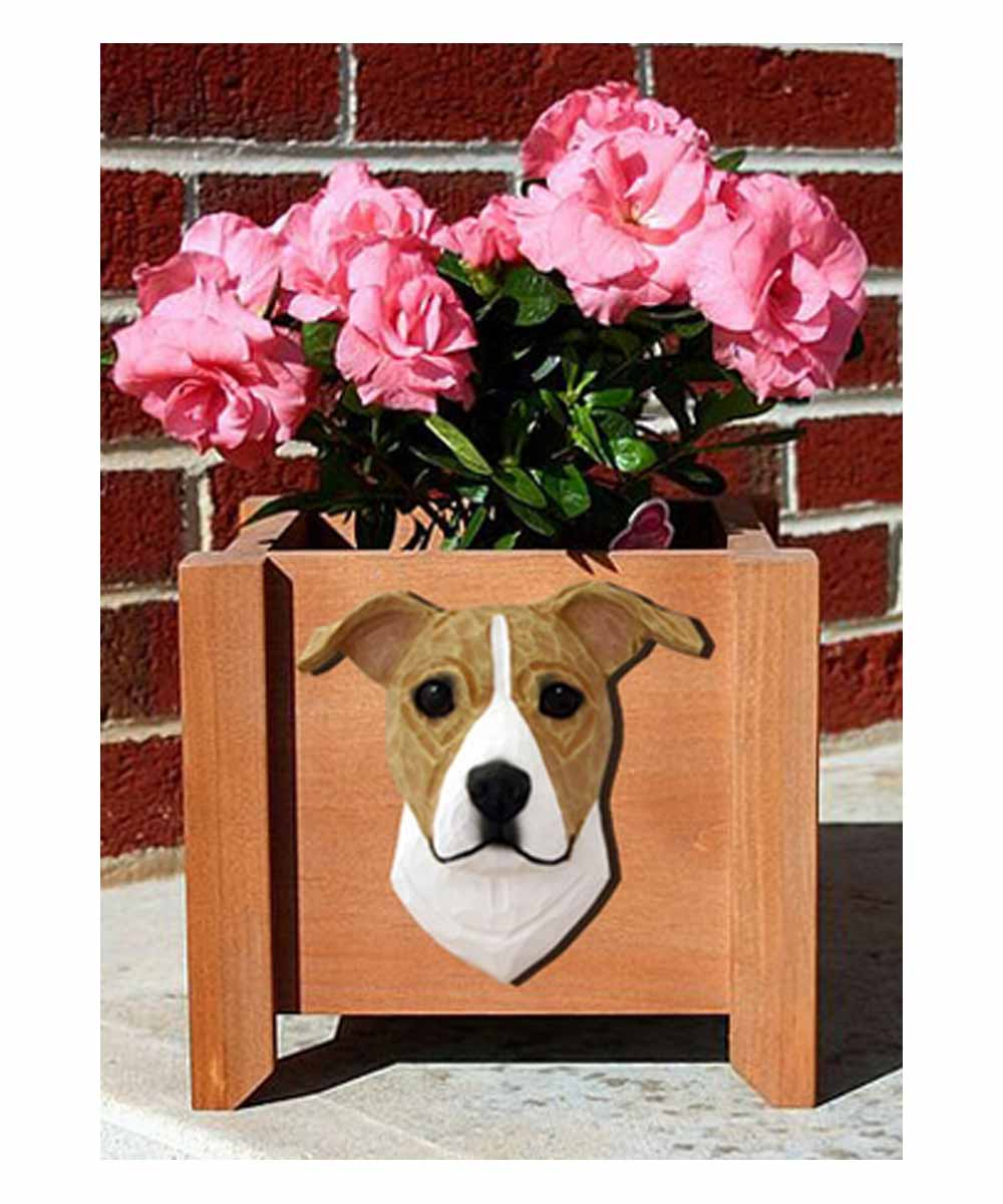 Pit Bull Garden Planter (Natural Ears)