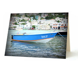 """Grenadian Boat"" Card"