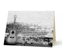 """Brick Guitar"" Card"