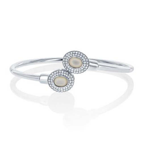 Sterling Silver MOP Oval Bangle