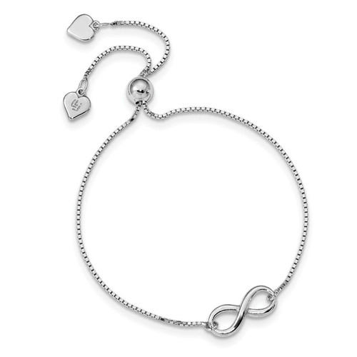 Leslie's Sterling Silver Polished Infinity Adjustable Bracelet