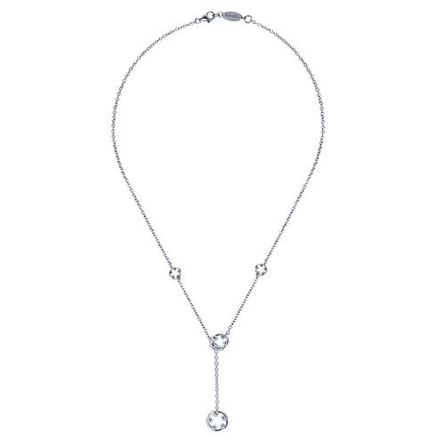 925 Silver Lariat Necklace NK2807SVJJJ