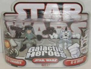 """STAR WARS GALACTIC HEROS """"AT-AT COMMANDER AND AT-AT- DRIVER"""""""