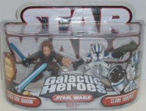"STAR WARS GALACTIC HEROS ""DARK SIDE ANAKIN AND CLONE TROOPER"""