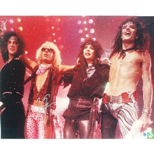 MOTLEY CRUE Band Picture autographed by VINCE NEIL 16 X 20