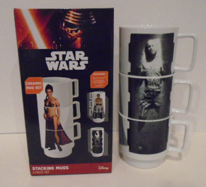 Star Wars Stacking mug set Han Solo Slave Leia and Lando