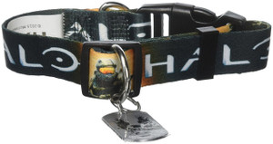 "Halo Master Chief dog collar Large 15-22"" neck"