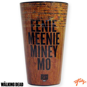 The Walking Dead Eenie Meenie Miney Mo 16 oz pint glass